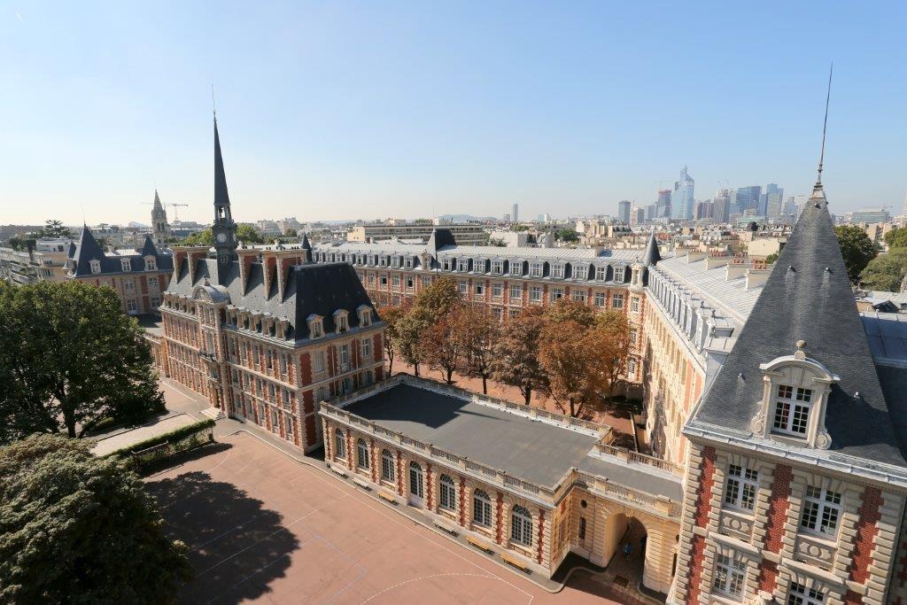 Photo aérienne du lycée Pasteur de Neuilly